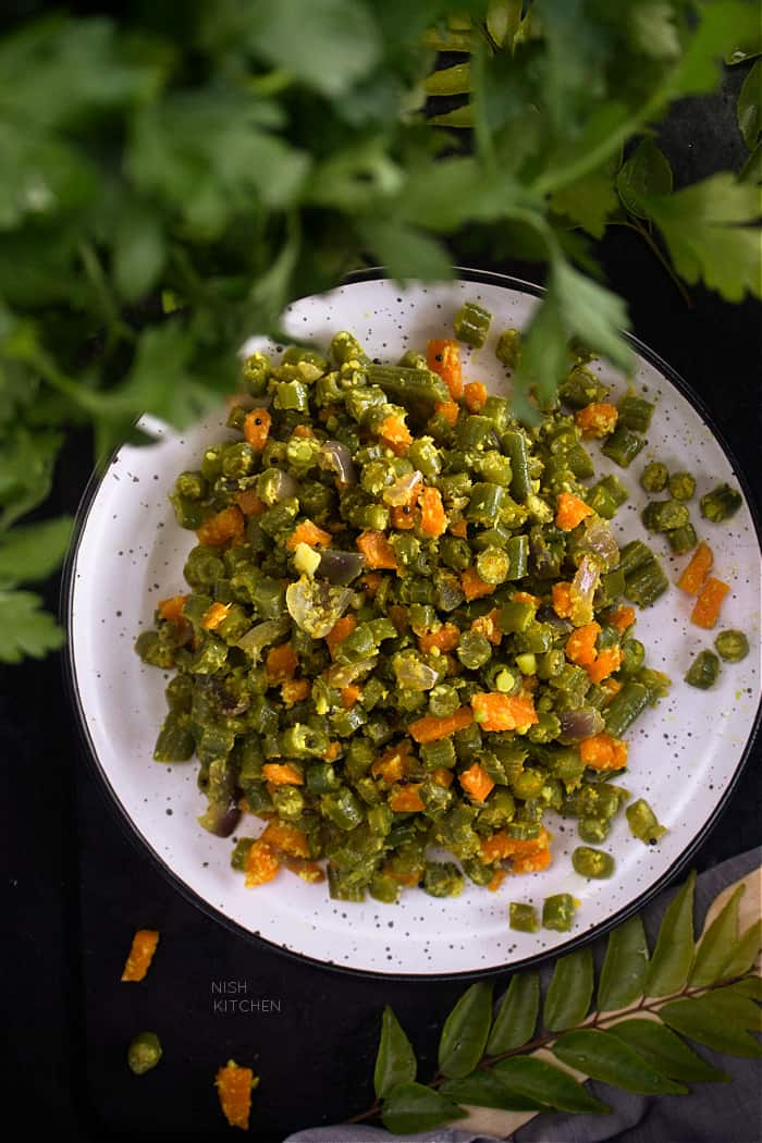 beans carrot thoran or stir fry