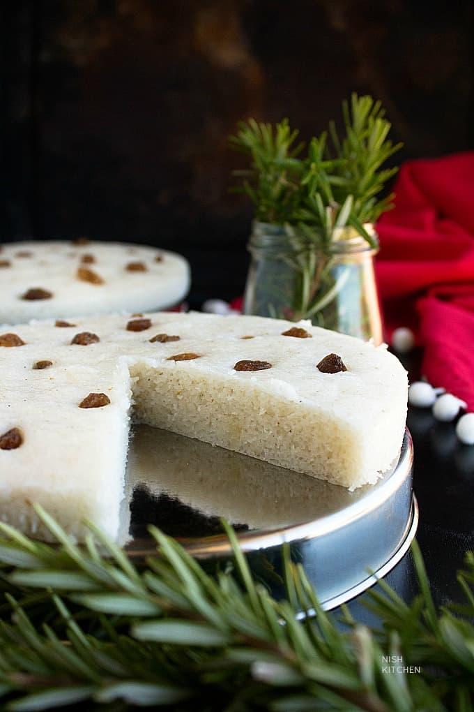 vattayapam - steamed rice cake