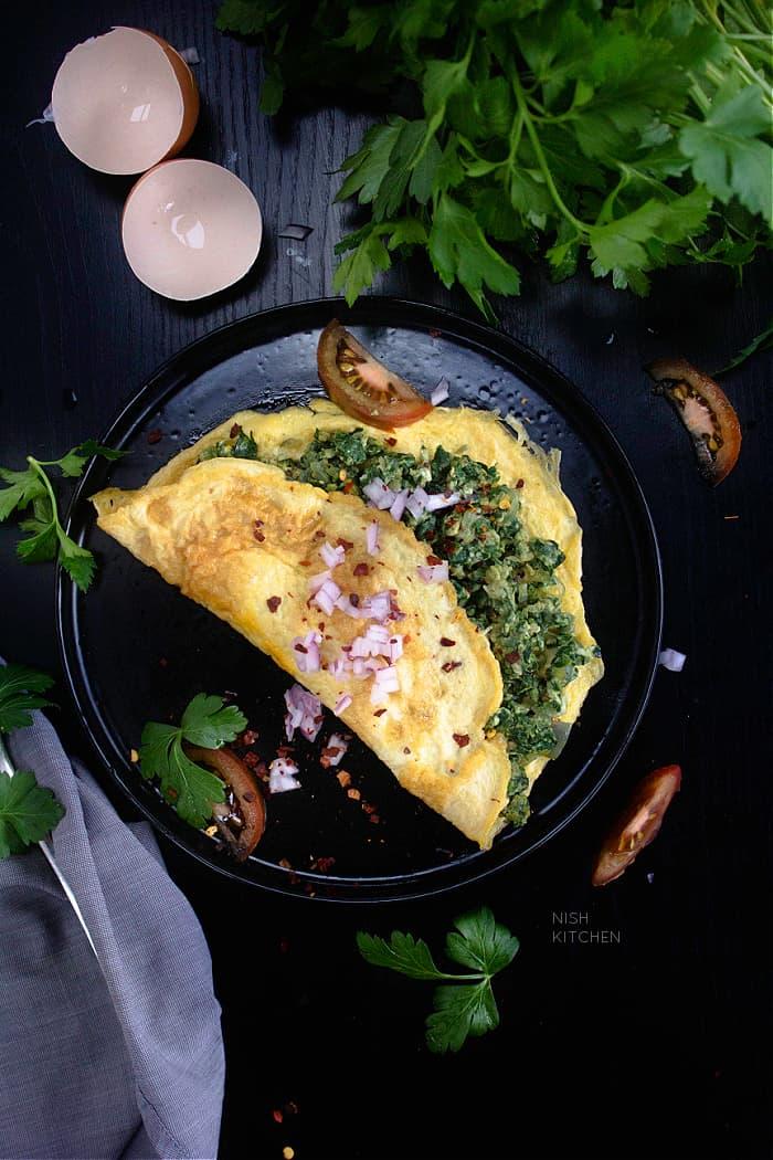 Spinach Omelette recipe