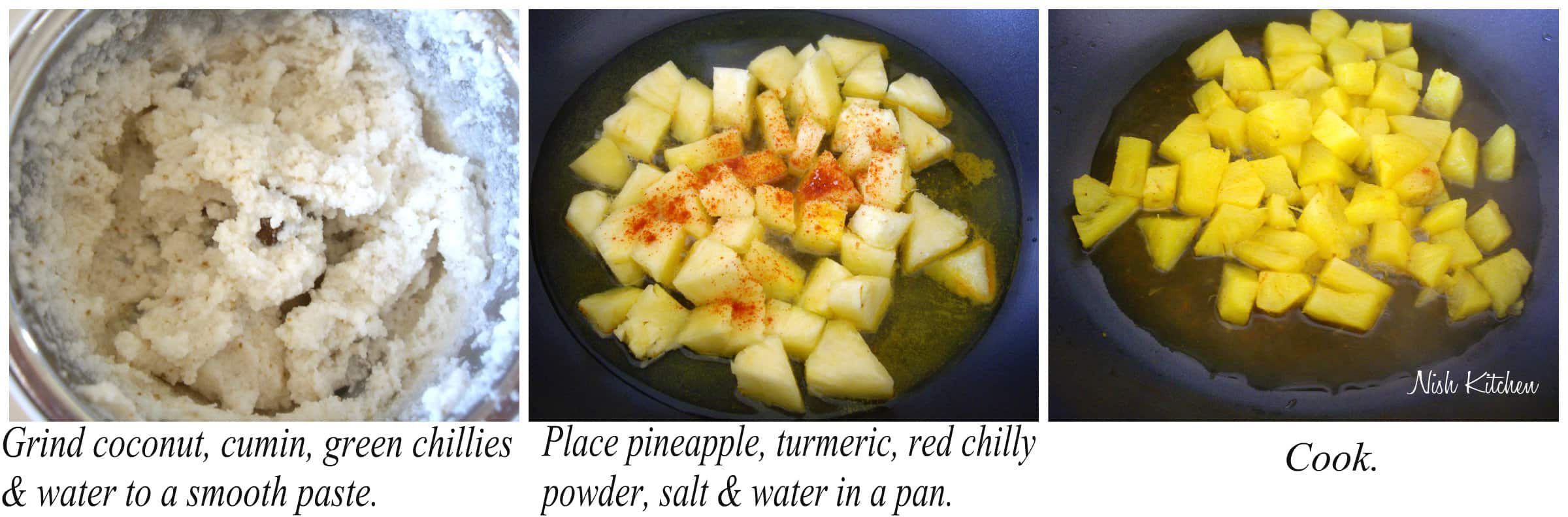 pineapple pachadi recipe 1