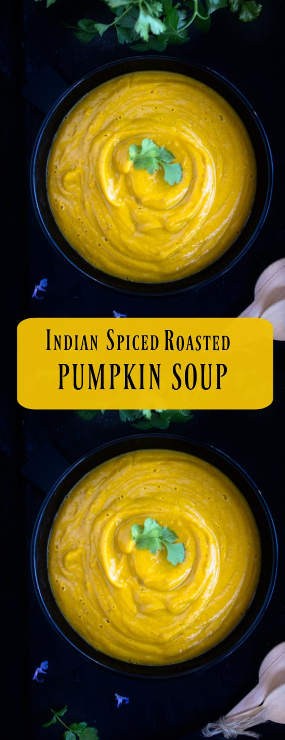 Indian Spiced Roasted Pumpkin Soup