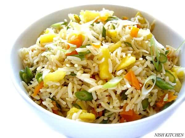 pineapple fried rice | nish kitchen