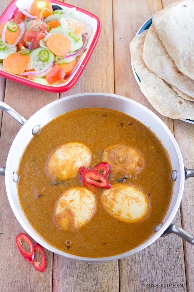 Egg masala curry   Nish Kitchen