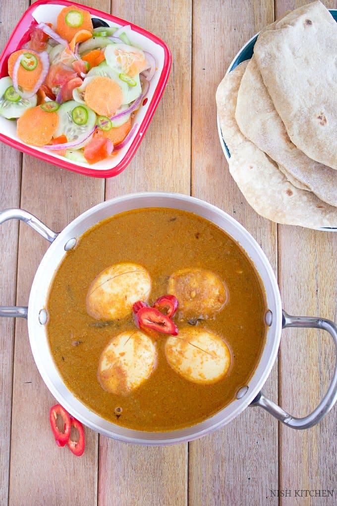 egg masala recipe   Nish Kitchen