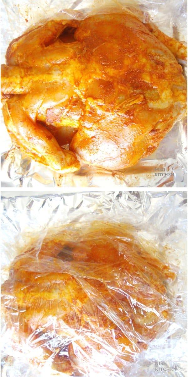 Marinate chicken for malabar kozhi nirachathu
