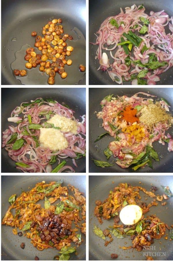 Kozhi nirachathu - malabar roast chicken stuffing