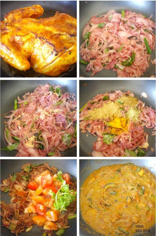 kozhi nirachathu- malabar stuffed chicken gravy