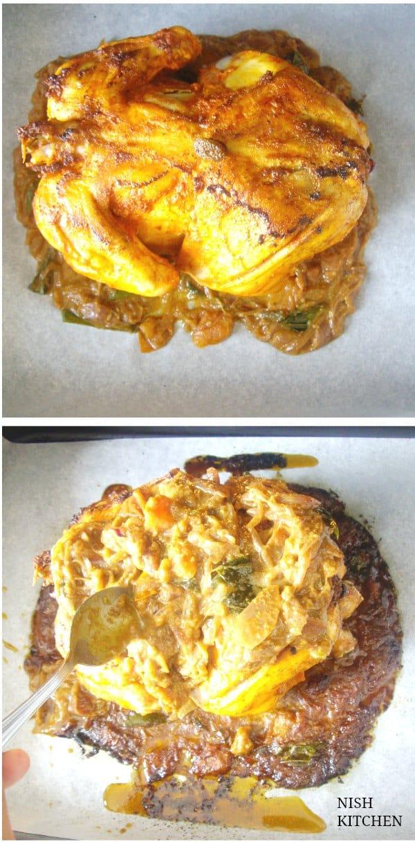 kozhi nirachathu- malabar roast chicken bake