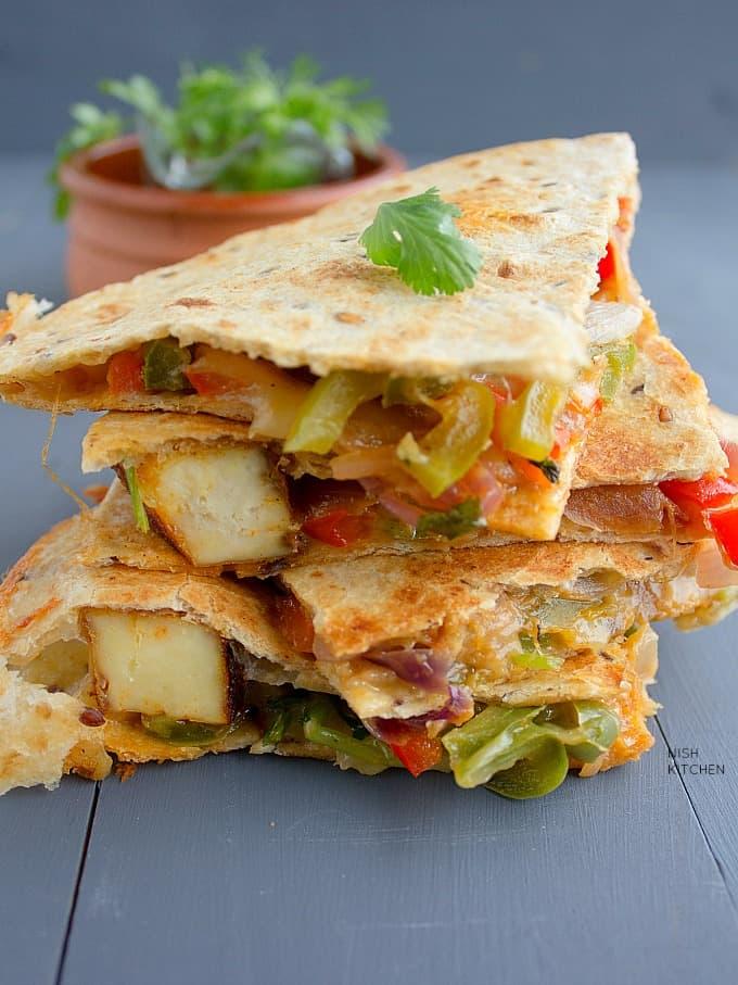 tandoori paneer quesadilla