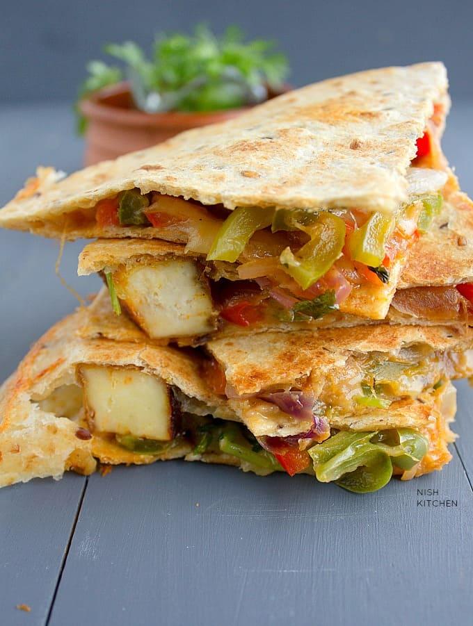 tandoori paneer quesadilla recipe