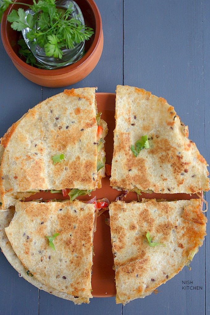 tandoori paneer quesadillas indian