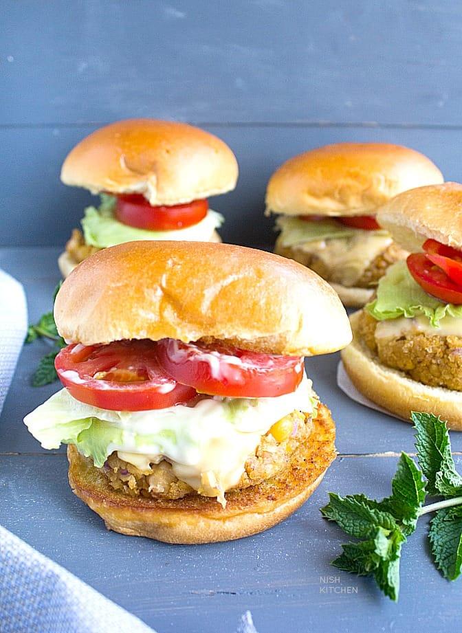 easy chickpea burgers video recipe