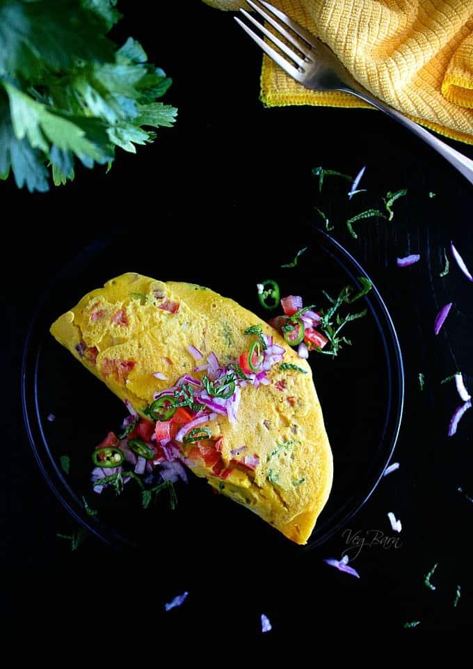chickpea omlet