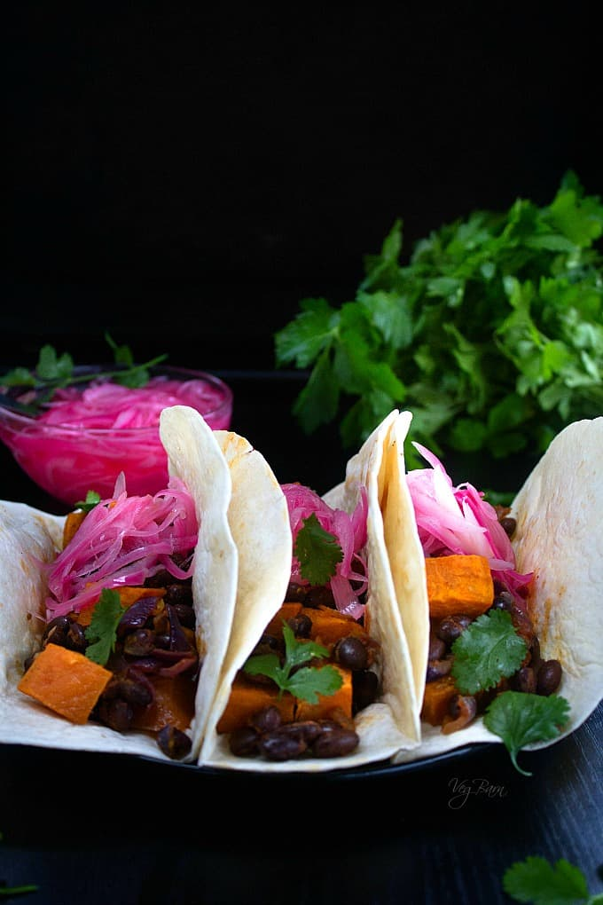 easy Sweet Potato and Black Bean Tacos