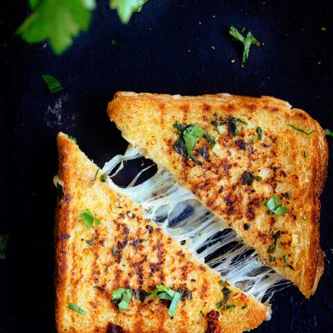 Garlic Bread Grilled Cheese Recipe Video